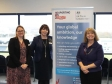 At the export event at Sixways (l-r) are UKT&I's Sally Stevenson and Linda Smith with Harriett Baldwin MP