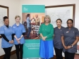 Harriett Baldwin MP meets with adult social care workers at an event at the House of Commons.