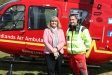 Flashback to May: Harriett Baldwin MP gets a VIP tour of the Strensham HQ and its helicopter fleet with pilot Jeremy Spiers