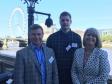 Harriett Baldwin MP attends an apprenticeships event with Steve Borwell-Fox, Emilis Tobulevicius.