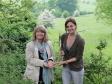 Harriett Baldwin views rare beetle species on Bredon Hill with Dr Sarah Henshall