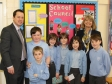 Harriett Baldwin meets Broadwas Primary School Head Teacher Mark Allen and the School Council