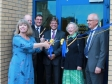 Harriett Baldwin MP formally opens the CAB offices with local dignitaries in Malvern's Enigma Business Park.