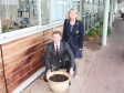 Malvern Hills Science Park's Alan White and Harriett Baldwin with the five saplings for the Queen's Commonwealth Canopy