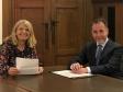 Harriett Baldwin MP with Housing Minister Chris Pincher.
