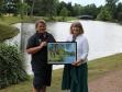 Croome Park's head gardener Katherine Alker and Harriett Baldwin MP