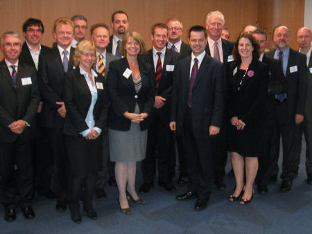 Harriett and Cyber Security Minister James Brokenshire visit Malvern's 'Cyber Valley'