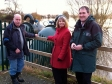 Kempsey flood visit with Councillor David Harrison and Dafydd Evans, Environment Agency regional director