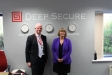 Deep Secure CEO Dan Turner and Harriett Baldwin MP.