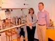 Harriett Baldwin MP gets a tour of Display Data's labs with director Guy Bryan-Brown