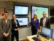 Environment Agency Incident Room visit: Anthony Perry, Richard Stockdale, Harriett Baldwin MP, Rhys MacCarthy