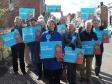 Harriett Baldwin is joined by Conservative supporters to meet Tenbury shoppers.