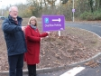 Councillor Paul Tuthill and Harriett Baldwin MP welcome extra parking and new pathways at the Malvern Retail Park