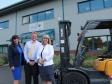 ESP visit: (l-r) Isla Buchanan, Steve Briggs, Harriett Baldwin MP