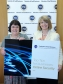 Harriett Baldwin with Ann Swain from the FSB backing a campaign to raise awareness of cyber threats to small businesses
