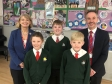 Harriett Baldwin MP, Florence Thomas, Henry Thorley, Finlay Skene and Adrian Pratley.