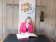 Holocaust Memorial Day: Harriett Baldwin MP signs a Book of Commitment in the House of Commons