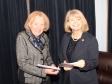 Harriett Baldwin MP (right) discussing the Holt Heath Post Office consultation with Cllr Pam Cumming.