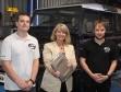 Mike Schooling, Harriett Baldwin MP and Dan Mota at Indra's Upton HQ