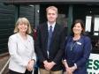Jack Walton, Harriett Baldwin MP and Three Counties Showground marketing director Suzy Hillier