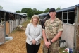 Harriett Baldwin MP goes behind the scenes at the Royal Troop's temporary barracks at the Royal Three Counties Show with Bombard