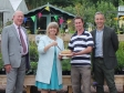Harriett Baldwin with Colin Kinnear and Matthew Riddell of the Bransford Trust and Link Nurseries manager Phil Woodhead