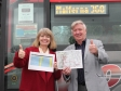 Harriett Baldwin MP gets a preview of the brand new Malferna service with Councillor John Smith