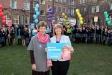 Headmistress Patricia Woodhouse and Harriett Baldwin MP launch the Malvern St James mock elections.