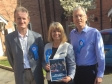 (l-r) Guy Bryan-Brown, Conservative Parliamentary Candidate Harriett Baldwin and Jed Marson