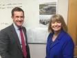 Malvern Hills Science Park CEO Alan White briefs Harriett Baldwin MP on expansion plans for the Geraldine Road site