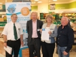 Rory the Robot appeal: Morrisons' Brian Wilkes, Chris Tidman, Harriett Baldwin MP and campaign chairman Ian Jukes.