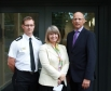 Harriett Baldwin tours the new Malvern Fire Station with Chief Fire Officer Mark Yates and Malvern station commander Rob Allen