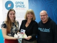 Malvern Jelly: Open Space co-ordinator Sarah Stewart, Harriett Baldwin MP and Worcestershire Hour founder Stuart Allen.