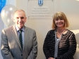 Harriett Baldwin with Pershore High School's Headteacher Clive Corbett at the opening of the school's new artblock