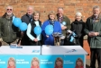 Harriett Baldwin is joined by Conservative supporters to meet Pershore shoppers