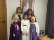 Harriett Baldwin joins Wychavon DC chair Cllr Lynne Duffy and the Pershore Plum Princess and her attendants.
