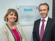 Harriett Baldwin unveils new QuinetiQ building with Adam Palser, QinetiQ managing director of Technical Information Services