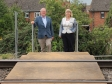 Harriett Baldwin MP and Councillor Paul Tuthill review safety measures at Malvern Link rail crossings