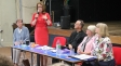 EU Remain event: (l-r) Jackie Smethurst, Jacqui Smith, Bishop John Inge, Evelyn Ellis and Harriett Baldwin MP