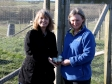 Harriett Baldwin MP and Marie Handy collect rare breed free-range eggs at Ridgeway Bank