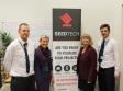 Seedtech visit: Jon May, Helen May, Harriett Baldwin MP, Tristan May