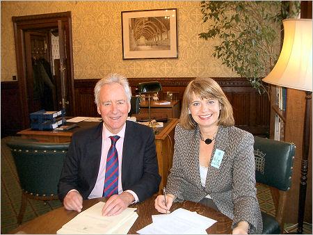 Harriett with Sir Michael Spicer March 2007
