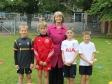 Harriett Baldwin joins school children in Hallow ahead of the Soccer Aid match