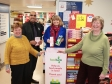 Food bank collections at Tesco in Pershore High Street: Lynne Raymer, Jag Dhaliwal, Harriett Baldwin MP, Judy Dale