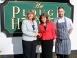 Harriett Baldwin MP with Ellie Butler and head chef Dave Butler at the Plough and Harrow in Guarlford