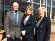 Harriett backs the Federation of Small Business 'Trade Local' campaign, with chairman Ken Wigfield and Angela Fitch