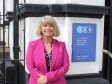 Harriett Baldwin MP visits Tenbury's TSB branch to show her support for the local team