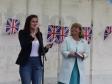 Britain's Got Talent's Pippa Langhorne with Harriett Baldwin MP at Upton Queen's birthday celebrations