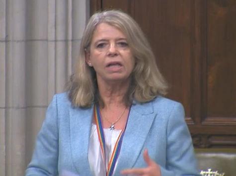 Harriett Baldwin MP speaking in Westminster Hall