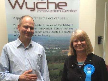 Harriett Baldwin visits Malvern's Wyche Innovation Centre
